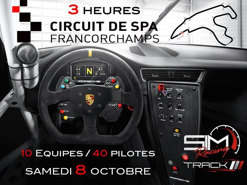 La prochaine course d'endurance chez Sim Racing Track