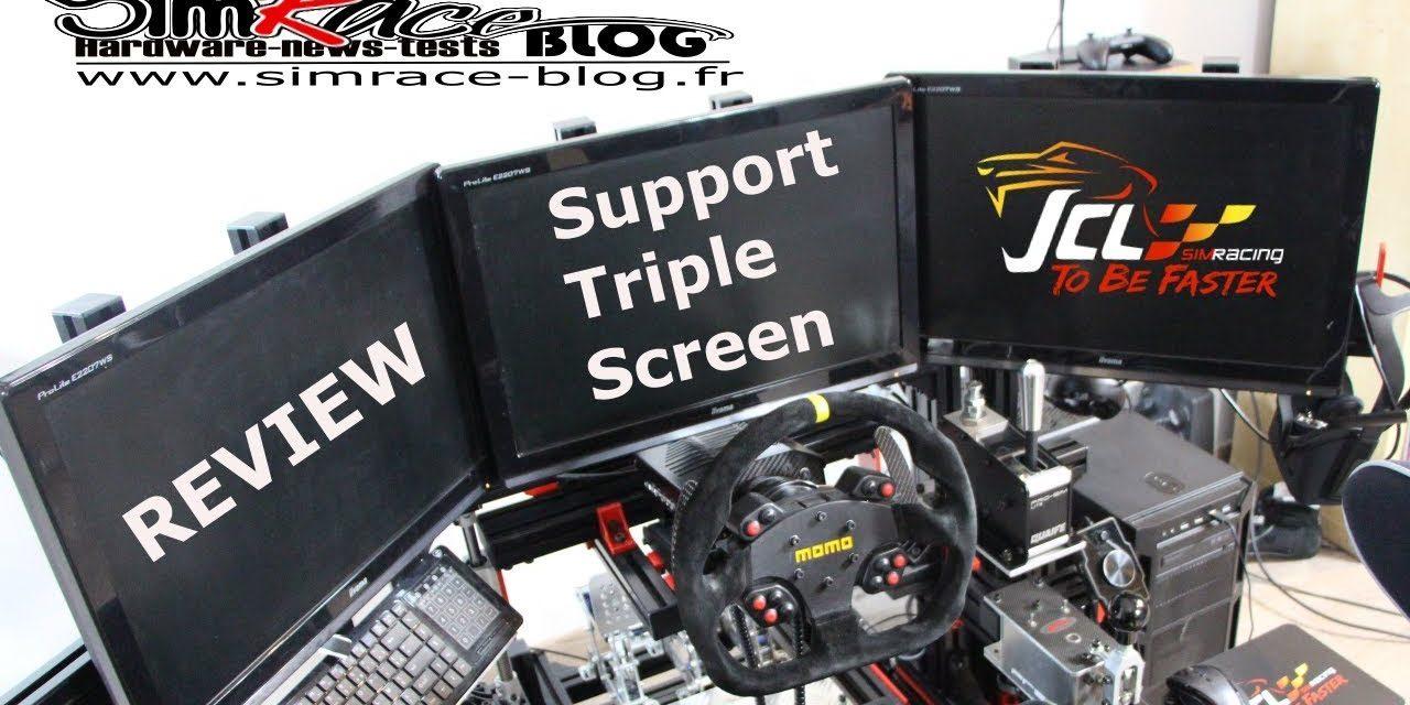 Review du support triple screen de JCL Simracing : Retour aux écrans ?