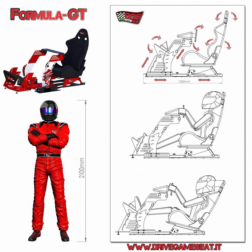 Cockpit Formula-GT par DRIVE GAME SEAT : Monoplace ou GT ?