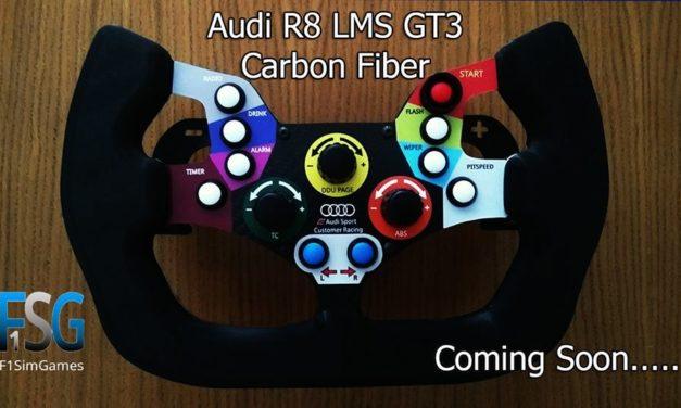 Audi R8 LMS GT3 : Une réplique du volant en prévision pour F1SimGames