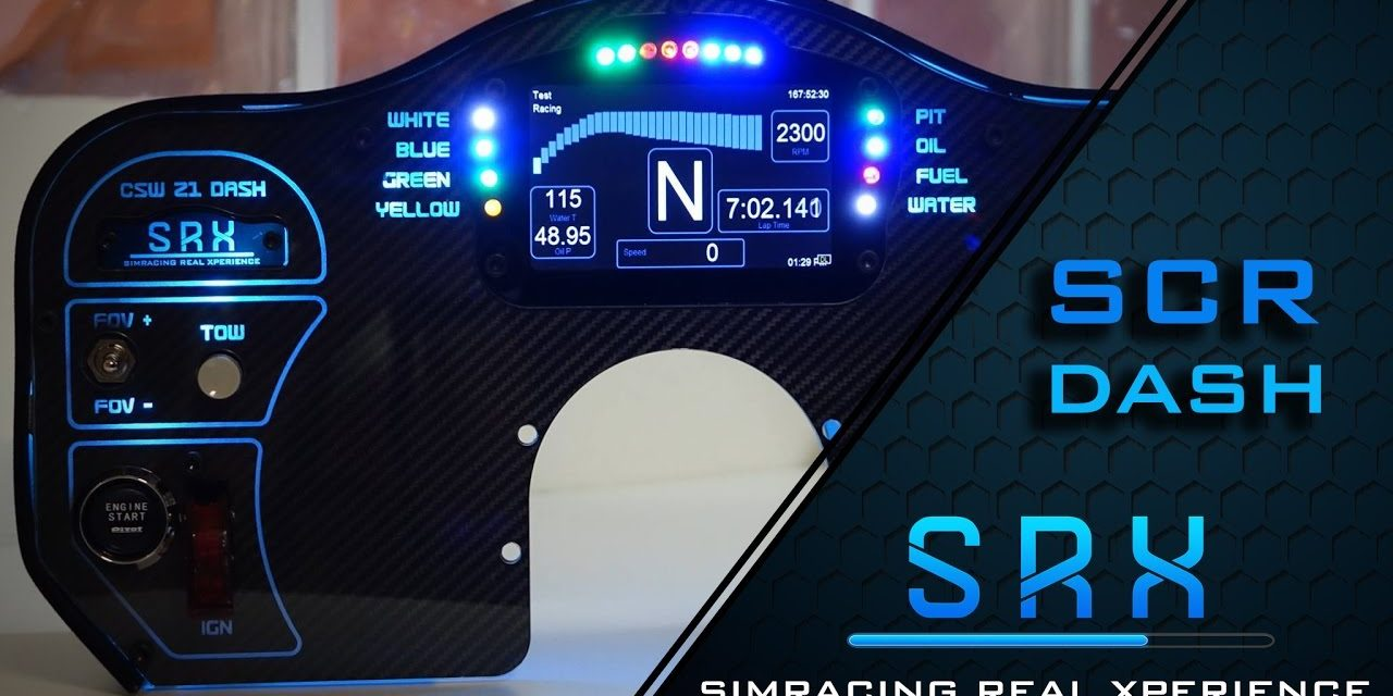 SRX nous présente son nouveau tableau de bord : Le SCR DASH