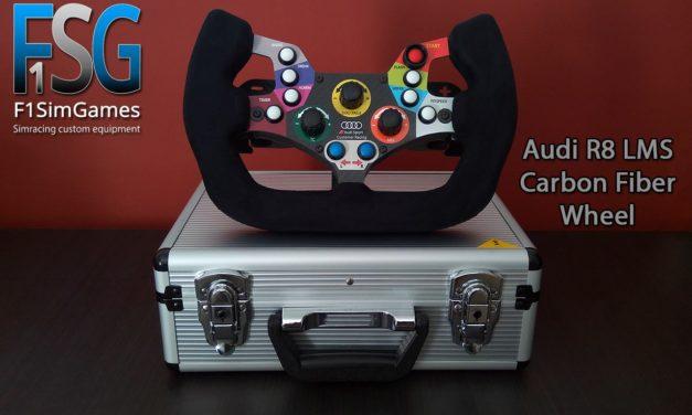 Réplique du volant Audi R8 LMS par F1 SIMGAMES : La voilà !