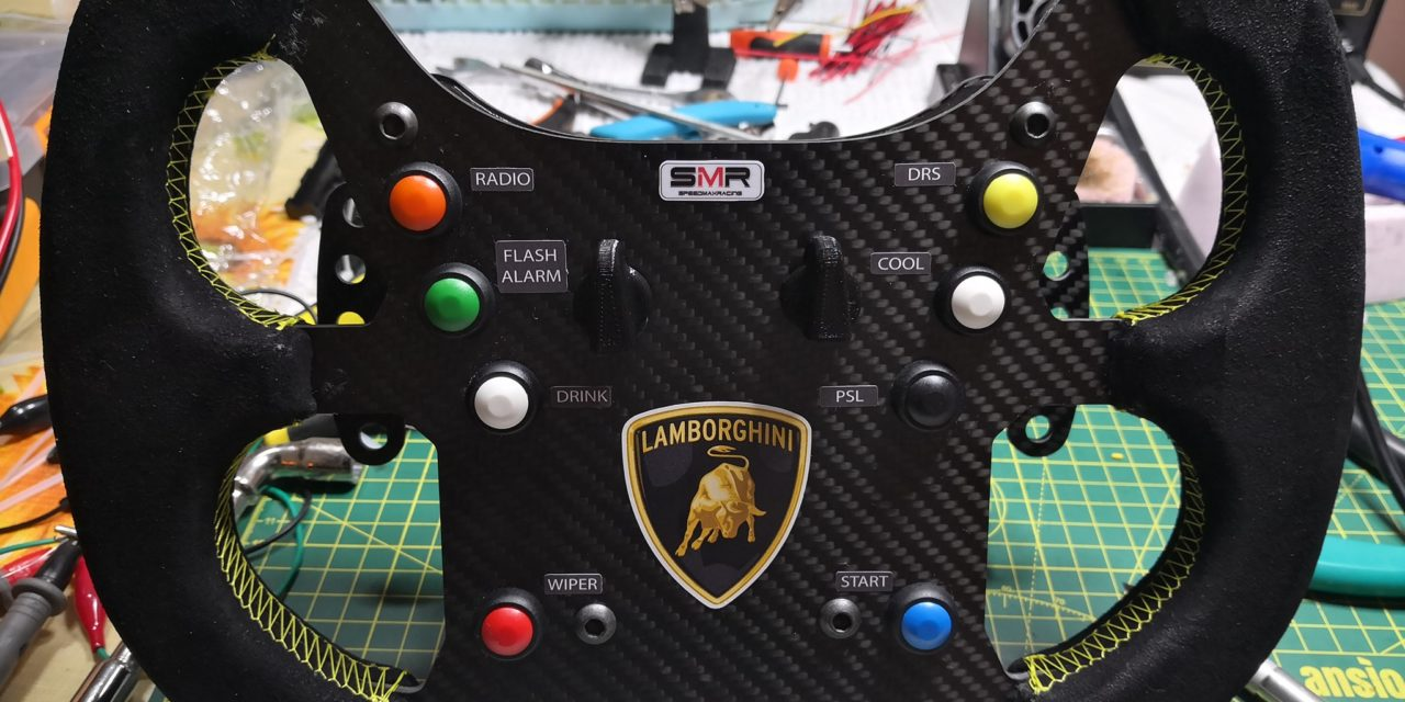 Volant Lamborghini Super Trofeo GT3 par Speed Max Racing