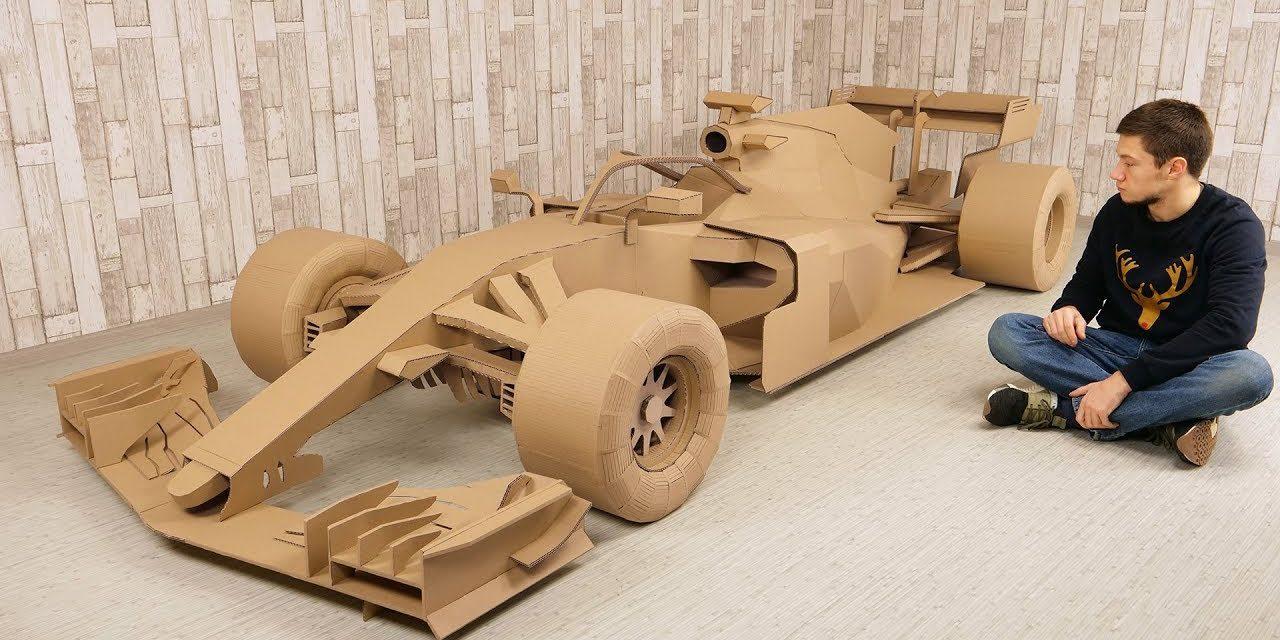 Recyclez vos cartons d'emballage, construisez une Formule 1 :)