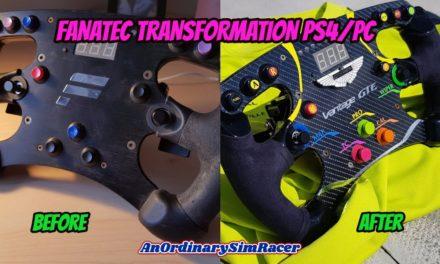 DIY : Un volant FANATEC Formula aux couleurs d'Aston Martin