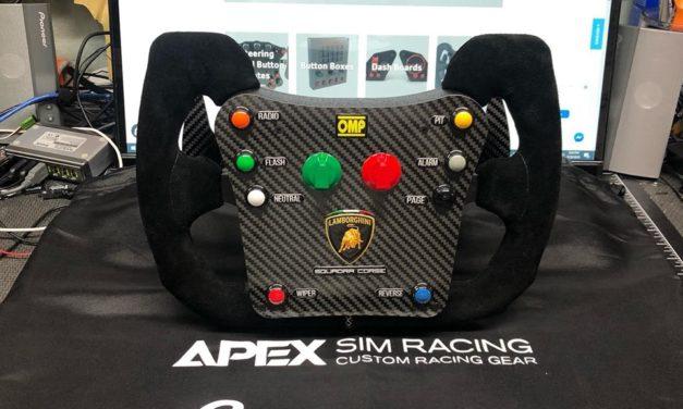 Volant Lamborghini Super Troféo chez APEX SIM RACING