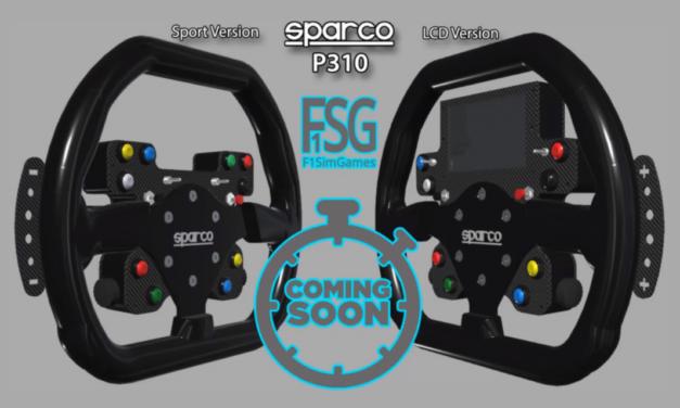 Coming Soon : un volant Sparco P310 revisité par F1SimGames