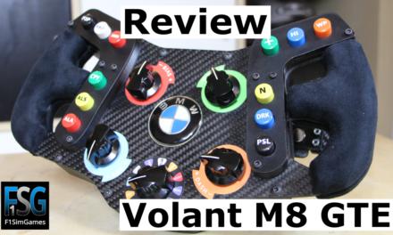 Review du volant M8 GTE de F1SIMGAMES