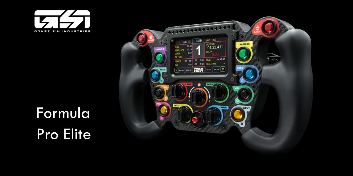 Volant Formula Pro Elite par GOMEZ SIM INDUSTRIES : Ca claque !