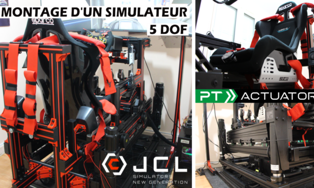 Montage d'un simulateur 5DOF PT ACTUATOR / JCL Simracing
