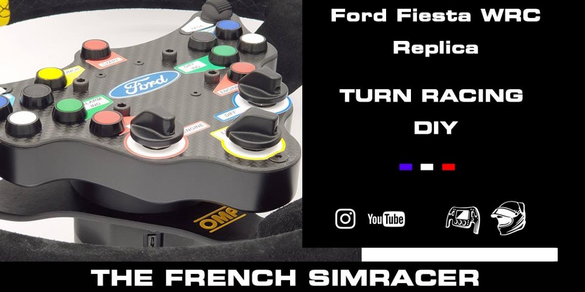 Volant Fiesta WRC Wireless par The French Simracer…et Turn Racing
