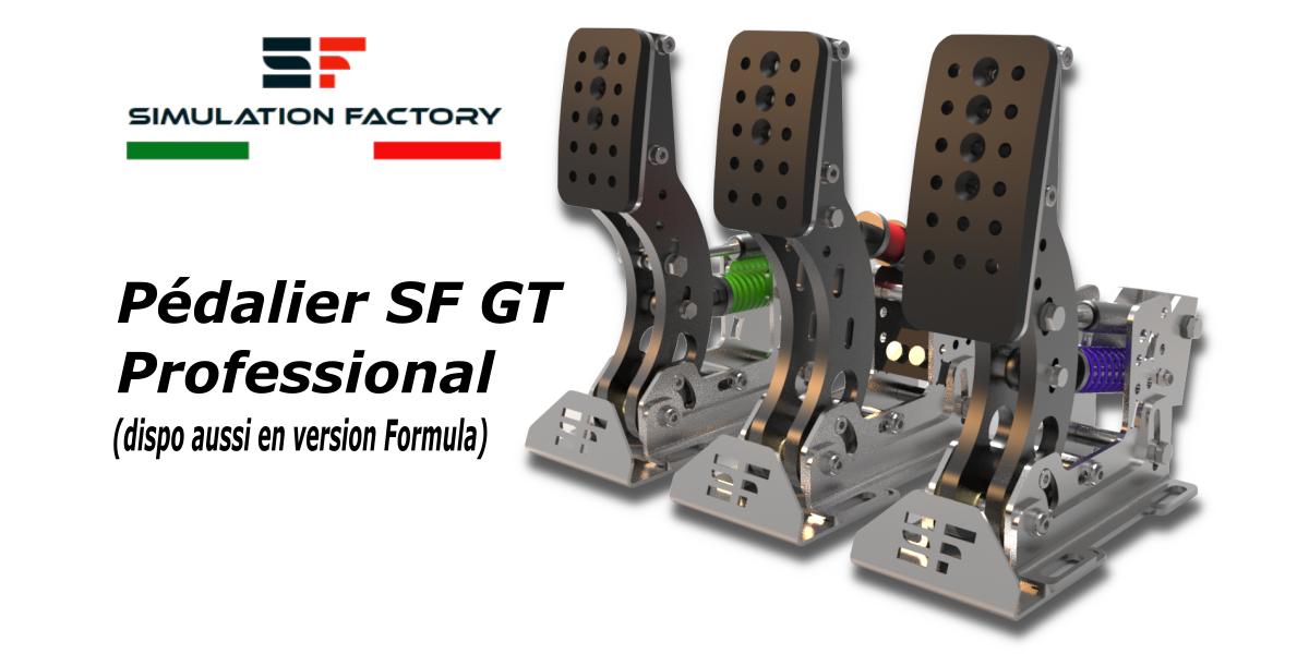 Pédalier SF GT Professional par SIMULATION FACTORY