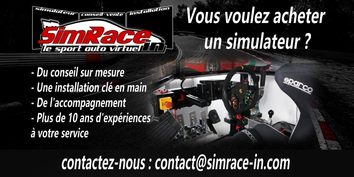 Votre projet d'achat de simulateur avec SIMRACE-IN