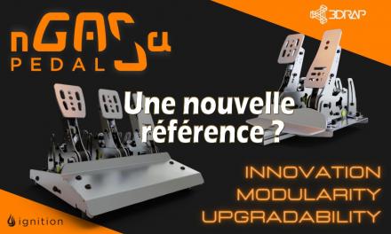 NGASA PEDAL : 3DRap lance son pédalier de Simracing