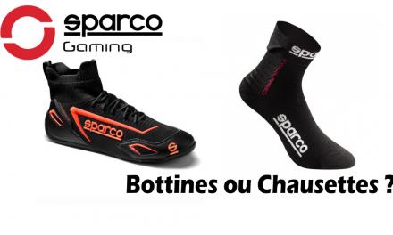 Avec SPARCO Gaming c'est chaussettes ou bottines !