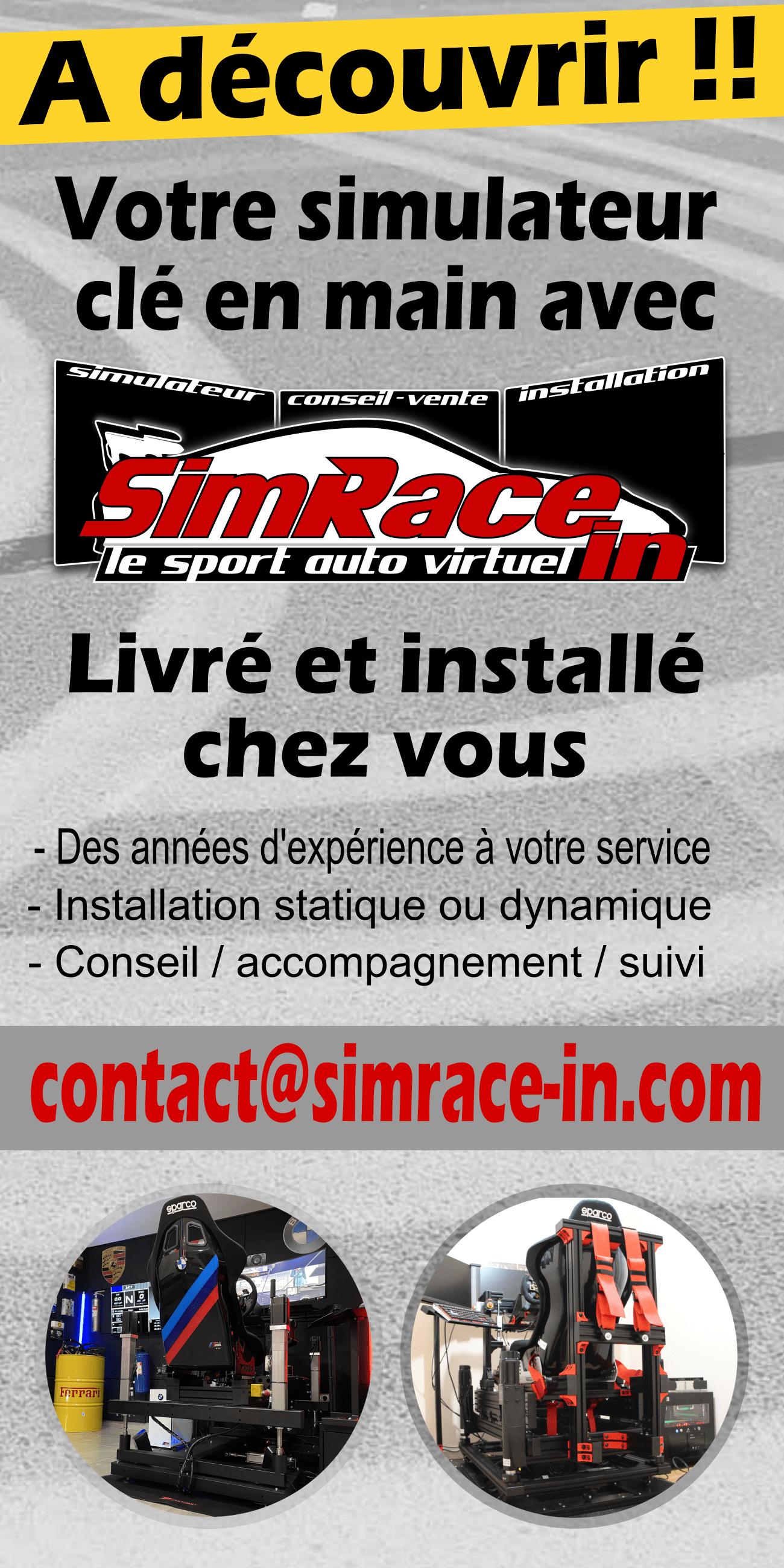 Achetez votre simulateur avec Simrace-In