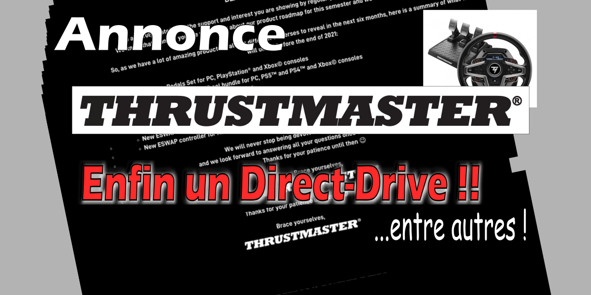 Du volant Direct-Drive chez THRUSTMASTER